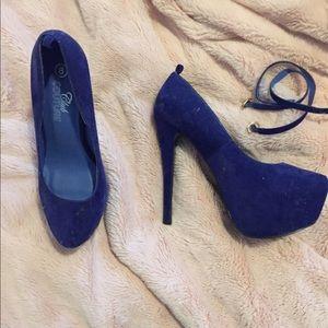Shoes - Colbat blue platform high heels
